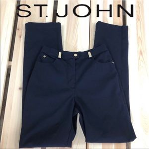 St. John Sport 5-Pocket Stretch Twill Navy Pant